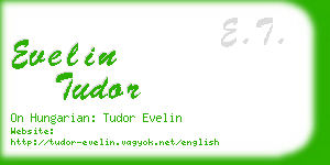 evelin tudor business card